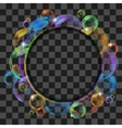 Abstract banner with transparent bubbles vector image