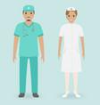 hospital staff concept male and female nurses vector image