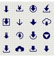 Downloading icon set on notebook page vector image