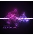 3D illuminated abstract digital wave vector image vector image