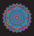 abstract colourful mandala background vector image vector image