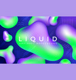 abstract liquid banner background vector image vector image