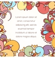 Abstract style invitation card vector image
