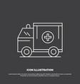 ambulance truck medical help van icon line symbol vector image vector image