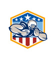 American Football Running Back Fend-Off Crest vector image vector image