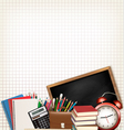 Back to school Education background with school vector image vector image