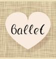 ballet dance vector image vector image