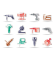 building and construction tools icons vector image vector image