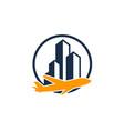 building travel logo icon design vector image