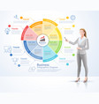 business woman standing with infographics vector image