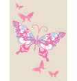 Butterfly scribble and brush stroke vector image vector image