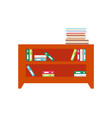 cabinet full of books and folders of documents vector image vector image