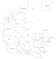Contour Denmark map vector image