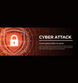 cyber attack the red modern digital background vector image
