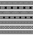 different meander ansient patterns wide frame vector image vector image