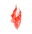 fire isolated red flames on white background vector image vector image