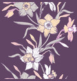 floral vertical seamless border with hand drawn vector image vector image