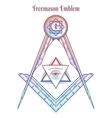 Freemason square and compass vector image vector image