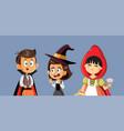 funny halloween kids cartoon vector image vector image