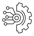 gear smart ai icon outline style vector image vector image