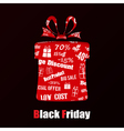 Gift box on Black Friday vector image vector image