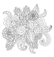 Hand drawn ethnic ornamental patterned floral