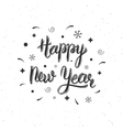 Happy New Year handmade modern brush lettering vector image vector image