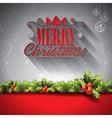 Holiday design on a Christmas theme vector image vector image