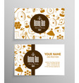 honey and beekeeping business cards vector image