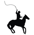 Horseman with Whip vector image