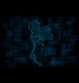 hud map thailand with provinces cyberpunk vector image vector image