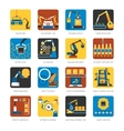 Industrial Assembly Line Flat Icons Set vector image