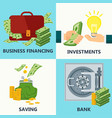 investment money design concept vector image vector image
