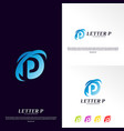 letter p logo design concept initial p logo vector image vector image