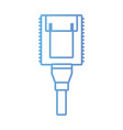 line electrical power cable connected in the plug vector image vector image