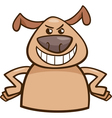 mood cruel dog cartoon vector image vector image
