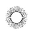 mystical geometric pattern sacred geometry round vector image