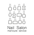 nail salon manicure vector image vector image