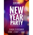 New Year party design banner Event celebration vector image vector image