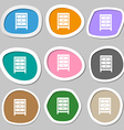 Nightstand icon sign Multicolored paper stickers vector image vector image