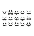 october party scary black clipart collection vector image
