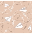 Paper Planes with Tangled Lines Seamless Pattern vector image vector image