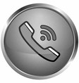 phone icon sound vector image vector image