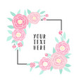 pink peonies frame vector image vector image
