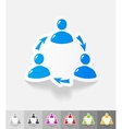 realistic design element interaction ikon vector image vector image