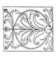 renaissance oblong panel is an intarsia or wood vector image vector image