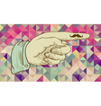 Retro hipsters human hand vector image vector image