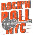 rockn roll poster design vector image