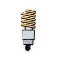 saving light bulb electricity energy vector image