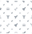 scissor icons pattern seamless white background vector image vector image